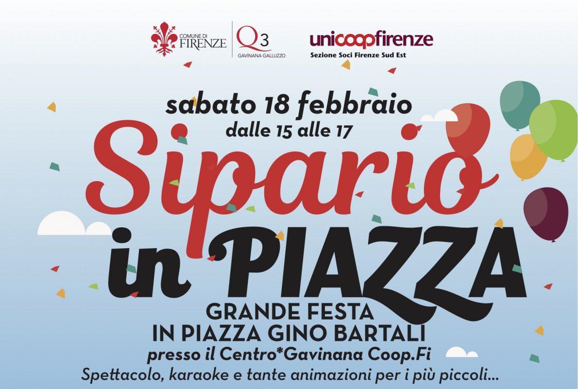 Sipario in piazza! Il 18 febbraio a Firenze