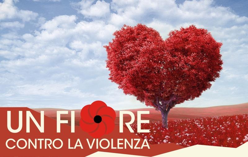 Un fiore contro la violenza